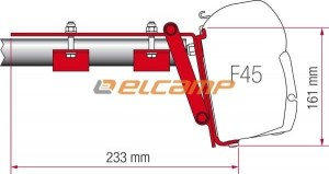 ADAPTER DO MARKIZY FIAMMA F45/F70 ROOF RAIL